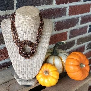 NWOT Necklace in Sparkly Brown Tones for Fall!